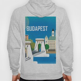 Budapest, Hungary - Skyline Illustration by Loose Petals Hoody