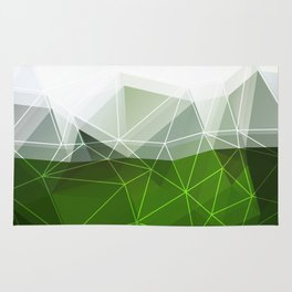 Green abstract background Rug