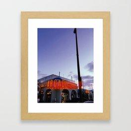 Belmont Park Arcade Framed Art Print