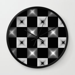 Black And White Illusion Pattern Wall Clock
