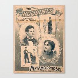 Houdini, Metamorphosis, vintage poster Canvas Print