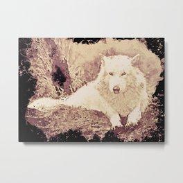 painted wolf Metal Print