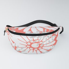 Summer Flowers Living Coral Fanny Pack