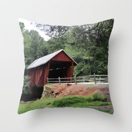 Campbell's Covered Bridge No 2 Throw Pillow