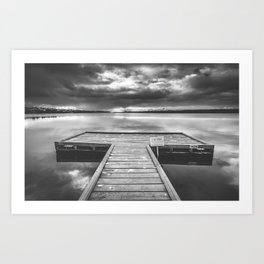 Turner Jetty B&W Art Print