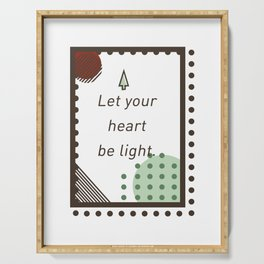 Let Your Heart Be Light Merry Christmas Santa Claus Serving Tray
