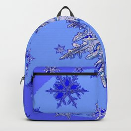 """BLUE SNOW ON SNOW"" BLUE WINTER ART Backpack"