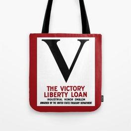 Victory Liberty Loan Industrial Honor Emblem Tote Bag