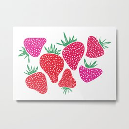 Very Berry Strawberries Metal Print