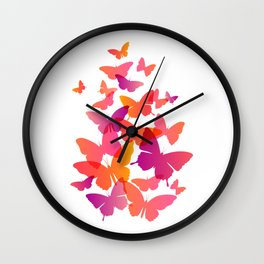 Flying Butterfly Wall Clock
