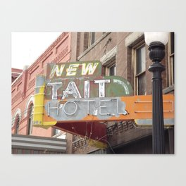 New Tait Hotel Canvas Print