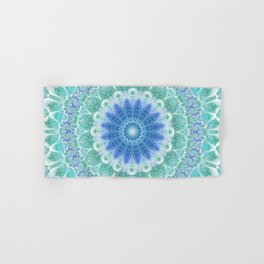 Blue and Turquoise Mandala Hand & Bath Towel