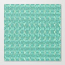 hopscotch-hex sea Canvas Print