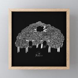 Black sheep Framed Mini Art Print