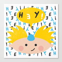 hey arnold Canvas Prints featuring Hey! Arnold by Carly Watts
