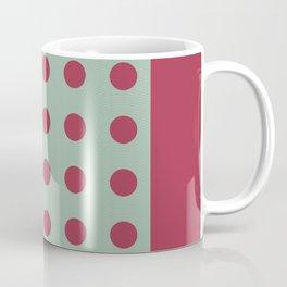 """Pink and Aquamarine Pastel Pattern, Marilyn"" Coffee Mug"