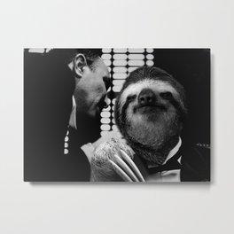 Sloth as Godfather Metal Print