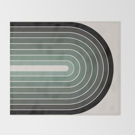 Gradient Arch - Green Tones Throw Blanket