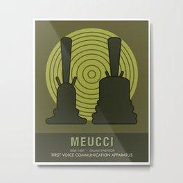 Science Posters - Antonio Meucci - Inventor Metal Print