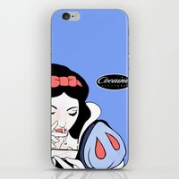cocaine iPhone & iPod Skins featuring Snow White: Cocaine Attitude by Trash Apparel