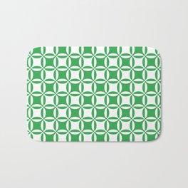 Geometry illusion in green Bath Mat