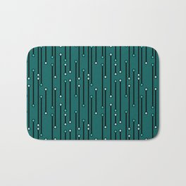 Dotted Lines in Teals Bath Mat