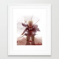 hetalia Framed Art Prints featuring I might not make it home tonight by jPolka