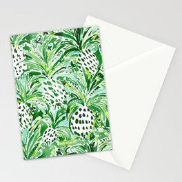 TROPICAL SITCH Green Pineapple Watercolor Stationery Cards