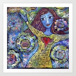 Hurricane Girl Art Print
