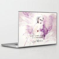 fashion illustration Laptop & iPad Skins featuring FASHION ILLUSTRATION 14 by Justyna Kucharska