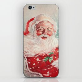 Cute vintage Santa Claus iPhone Skin