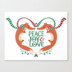 Peace, Joy, Love Canvas Print