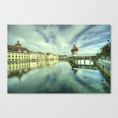 Chapel Bridge  of Lucerne Canvas Print