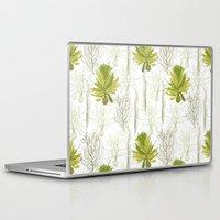 green pattern Laptop & iPad Skins featuring Green pattern  by LOLIA-LOVA