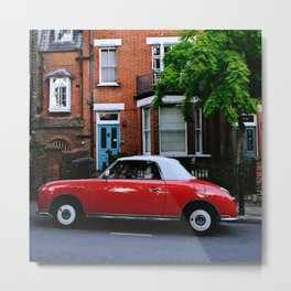 Red on Red Metal Print