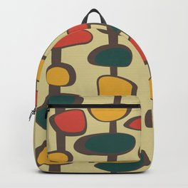 Mid Century Modern Baubles (gold) Backpack