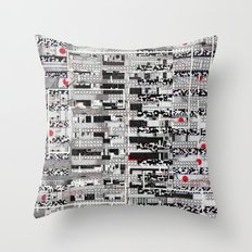 Opportunistic Species (P/D3 Glitch Collage Studies) Throw Pillow