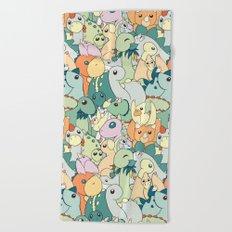 Cute Dino Pattern Beach Towel