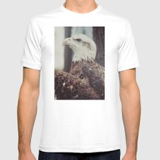 Young Eagle MEDIUM White Mens Fitted Tee