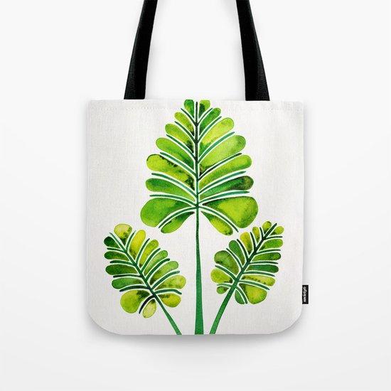 Tropical Palm Leaf Trifecta – Green Palette Tote Bag
