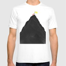 Man & Nature - To The Top White Mens Fitted Tee MEDIUM