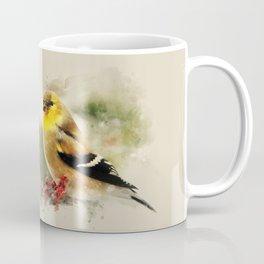 Goldfinch Watercolor Art Coffee Mug