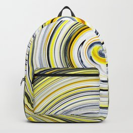 Yellow And Black Funky Swirl Backpack