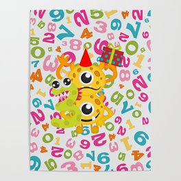 Birthday Monsters 3rd Birthday Poster