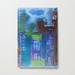 The City After a Rain Metal Print