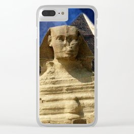 Sphinx  and Pyramid Clear iPhone Case