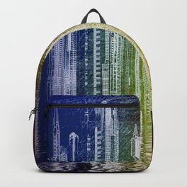 illustrations city metropolis gotham Backpack