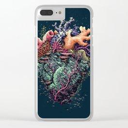 Poseidon's Heart Clear iPhone Case