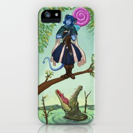 Haunted Nein 1 iPhone Case