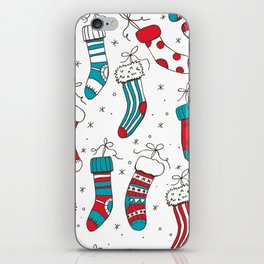 Christmas socks iPhone Skin